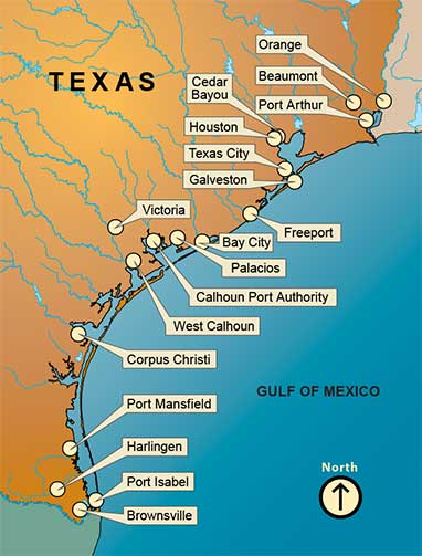 Texas Ports Association Texas Ports Gateways To The World - Port of houston map